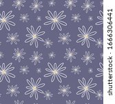 seamless spring floral pattern. ... | Shutterstock .eps vector #1666306441