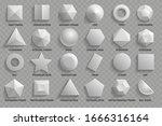 vector set. top view realistic... | Shutterstock .eps vector #1666316164