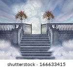 stairs to the heaven | Shutterstock . vector #166633415