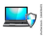 Antivirus Concept. Laptop...