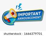 important announcement. warning ... | Shutterstock .eps vector #1666379701