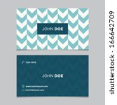 business card template ... | Shutterstock .eps vector #166642709