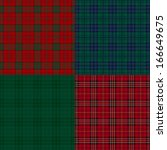 Set Of Tartan Check Backgrounds.