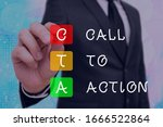 word writing text cal to action....
