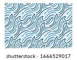 horizontal seamless pattern of... | Shutterstock .eps vector #1666529017