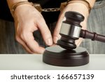 the arrest of the offender in... | Shutterstock . vector #166657139