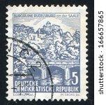 germany   circa 1961  stamp... | Shutterstock . vector #166657865