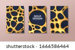 set of luxury banners with... | Shutterstock .eps vector #1666586464