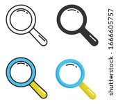 magnifying glass and search... | Shutterstock .eps vector #1666605757