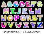alphabet lettering english... | Shutterstock .eps vector #1666620904