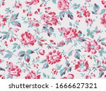 vintage style floral seamless... | Shutterstock .eps vector #1666627321