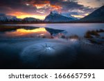 The Vermilion Lakes Are A...