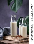 Small photo of Plant based lactose free nondairy buckwheat milk