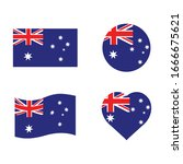 flags of australia  vector icon ... | Shutterstock .eps vector #1666675621