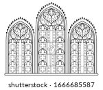 black and white drawing for... | Shutterstock .eps vector #1666685587