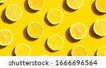 Fresh Yellow Lemons Overhead...