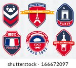 vintage french badges  labels... | Shutterstock .eps vector #166672097