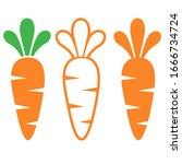 carrot vector illustrations on... | Shutterstock .eps vector #1666734724