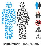 dotted mosaic based on married... | Shutterstock .eps vector #1666763587