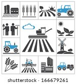 agriculture icons. vector set... | Shutterstock .eps vector #166679261