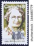 canada   circa 1973 a stamp...   Shutterstock . vector #166680779