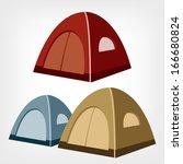 tent. camping tent vector.... | Shutterstock .eps vector #166680824