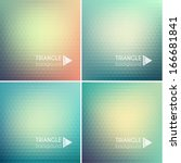 abstract triangle backgrounds... | Shutterstock .eps vector #166681841