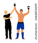 referee declares winner of the...   Shutterstock .eps vector #1666824694