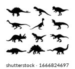 dinosaurs large collection. t... | Shutterstock .eps vector #1666824697