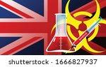 united kingdom  uk  biohazard...   Shutterstock .eps vector #1666827937