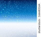 winter background. ... | Shutterstock . vector #166683164
