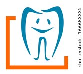 abstract sign for a dentist or... | Shutterstock . vector #166683335