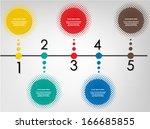 colorful halftone design... | Shutterstock .eps vector #166685855