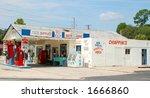 smalltown gas station store ... | Shutterstock . vector #1666860