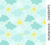 kids seamless pattern clouds...