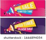 flash sale promotion banner... | Shutterstock .eps vector #1666894054