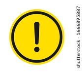 warning sign. exclamation ... | Shutterstock .eps vector #1666895887