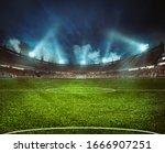 Football Stadium With The...