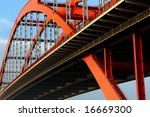 the orange colored steel cable... | Shutterstock . vector #16669300