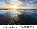 The Beach In Zandvoort During A ...