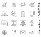 marketing icons  thin line... | Shutterstock .eps vector #1667059624