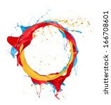 paint splashes circle isolated... | Shutterstock . vector #166708601