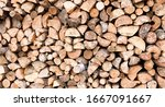 Large Rural Stack Of Firewood....