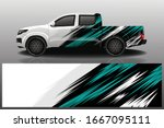 truck car wrapping decal design | Shutterstock .eps vector #1667095111
