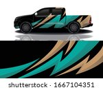truck car wrapping decal design | Shutterstock .eps vector #1667104351