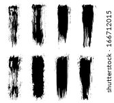 set of grunge brush strokes.... | Shutterstock . vector #166712015