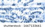 blue tie dye splatter printing. ... | Shutterstock . vector #1667133661