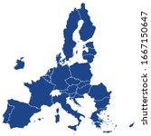 european union member states... | Shutterstock .eps vector #1667150647