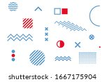 abstract geometric background... | Shutterstock .eps vector #1667175904
