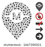 dotted mosaic based on motor... | Shutterstock .eps vector #1667200321